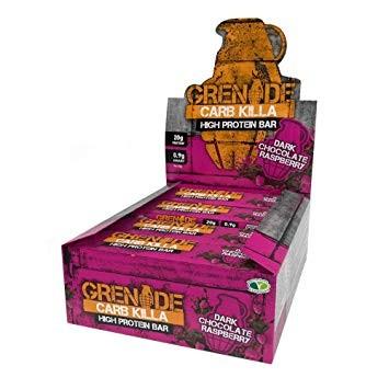 Grenade Carb Killa (Box) Dark Choc Raspberry
